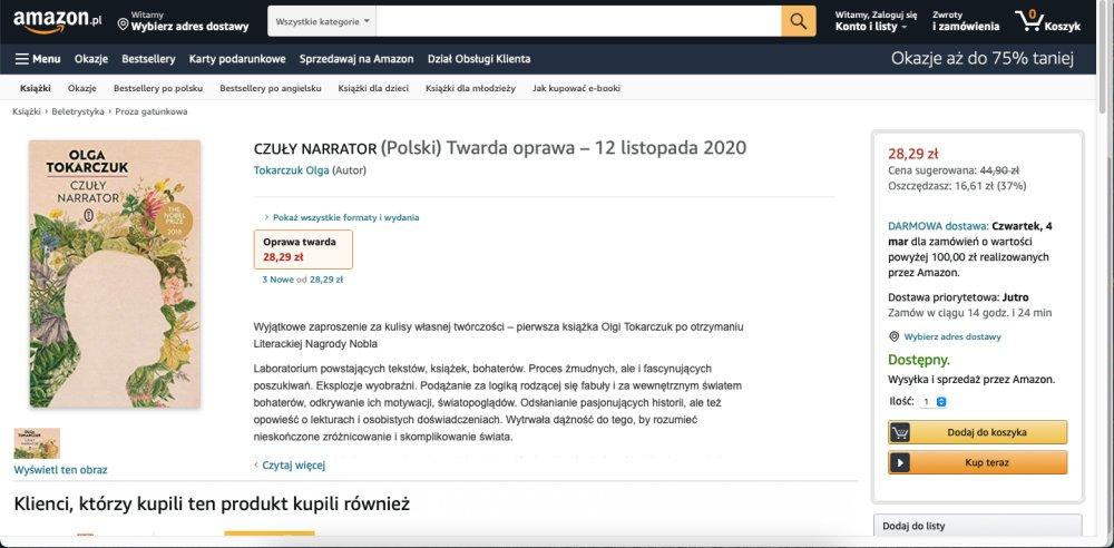 Amazon.pl zrzut ekranu