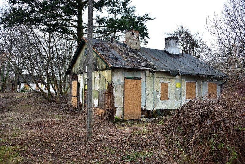 Fińskie domki na Polu Mokotowskim