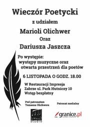 6 XI: wieczór poetycki w Zabrzu