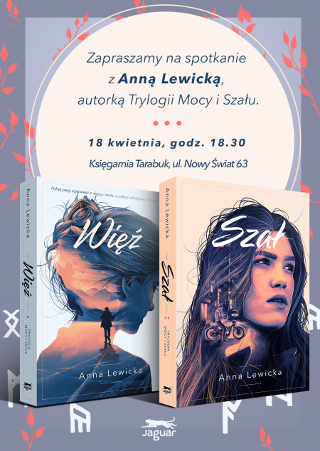 News - 18 IV: Spotkanie z Anną Lewicką w Warszawie