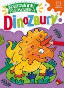 Okładka - Kolorowanki przedszkolaka. Dinozaury