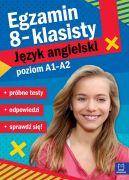 Okładka - Egzamin ósmoklasisty. JĘZYK ANGIELSKI  próbne testy poziom A1A2
