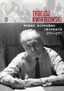Okładka - Ważne, nieważne. Dziennik 1953-1973