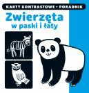 Okładka ksiązki - Kapitan Nauka. Karty kontrastowe i poradnik. Zwierzęta w paski i łaty