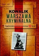 Okładka ksiązki - Warszawa kryminalna