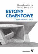 Okładka - Betony cementowe. Zagadnienia wybrane