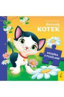 Okładka - Nieśmiały kotek. Książka z puzzlami