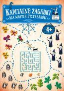 Okładka ksiązki -  Kapitalne zagadki dla małych Bystrzaków 4+