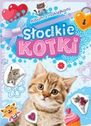 Okładka - Album z naklejkami. Słodkie kotki