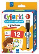 Okładka - Cyferki  karty edukacyjne z pisakiem. 5+