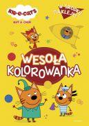 Okładka ksiązki - Kot-o-ciaki. Wesoła kolorowanka z naklejkami
