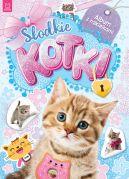 Okładka ksiązki - Słodkie kotki. Album z naklejkami
