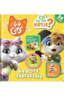 Okładka ksiązki - 44 koty. Co się tam kryje? 44 koty zapraszają