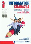 Okładka ksiązki - Informator gimnazja warszawa i okolice na rok 2007/2008