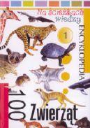 Okładka ksiązki - 100 zwierząt. Na ścieżkach wiedzy