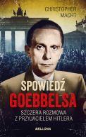 Okładka ksiązki - Spowiedź Goebbelsa