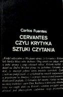 Okładka ksiązki - Cervantes czyli krytyka sztuki czytania