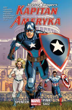 Okładka książki - Kapitan Ameryka: Steve Rogers, tom 1