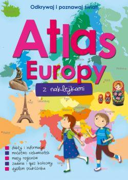 Okładka książki - Atlas Europy z naklejkami