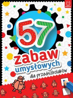 Okładka książki - 57 zabaw umysłowych dla przedszkolaków