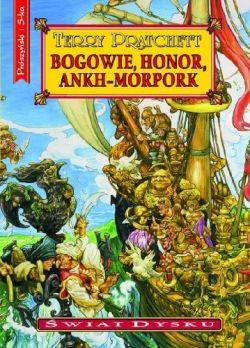 Okładka książki - Bogowie, honor, Ankh-Morpork