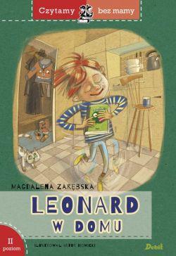 Okładka książki - Leonard w domu - Czytamy bez mamy, poziom II