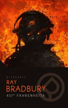 Okładka książki - 451 stopni Fahrenheita