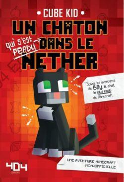 Okładka książki - Minecraft 7. Pamiętnik 8-bitowego kota. Fioletowy portal