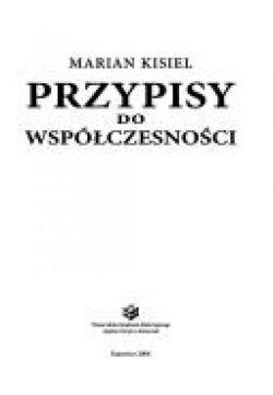 Okładka książki - Przypisy do współczesności