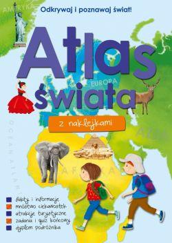 Okładka książki - Atlas świata z naklejkami