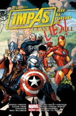 Okładka książki - Avengers  Impas  Atak na Pleasant Hill. Marvel Now 2.0