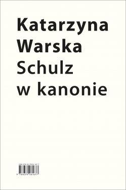 Okładka książki - Schulz w kanonie. Recepcja szkolna w latach 1945-2018