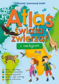 Okładka książki - Atlas świata zwierząt z naklejkami