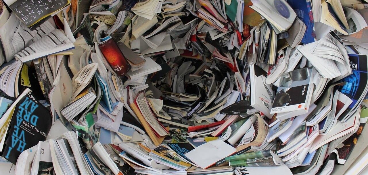 Książki na makulaturę śmietnik