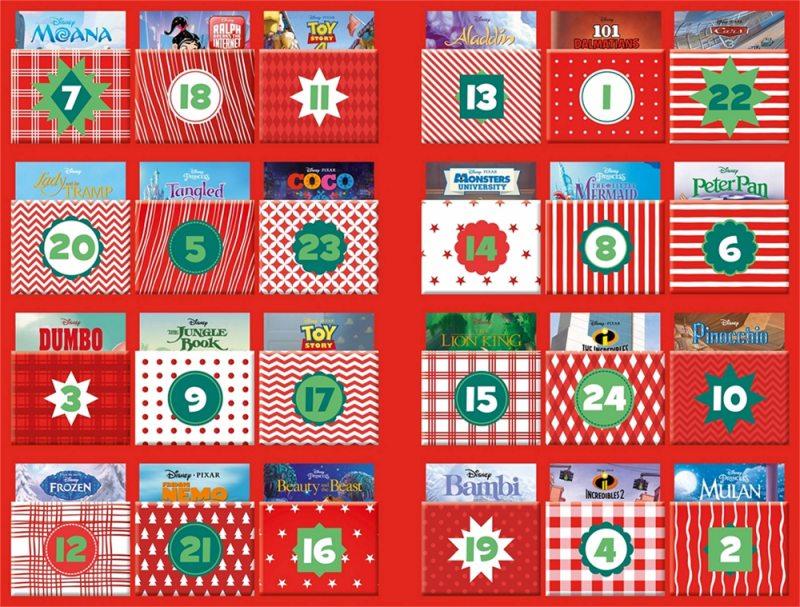 Kalendarz adwentowy Disney