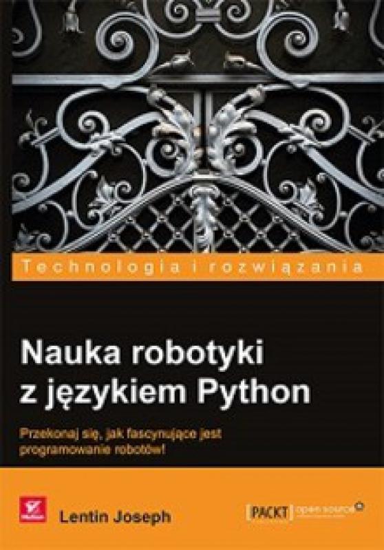 Okładka książki - Nauka robotyki z językiem Python