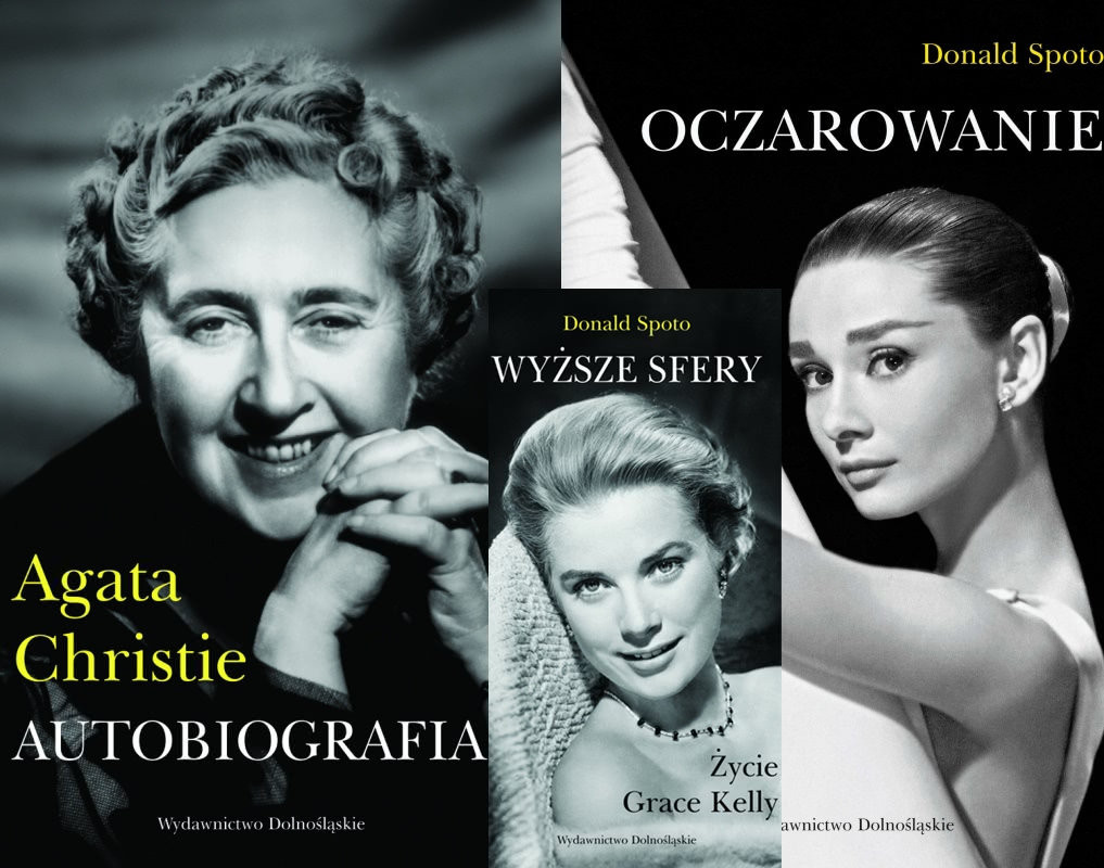 Okładka książki - Audrey Hepburn, Agata Christie, Grace Kelly