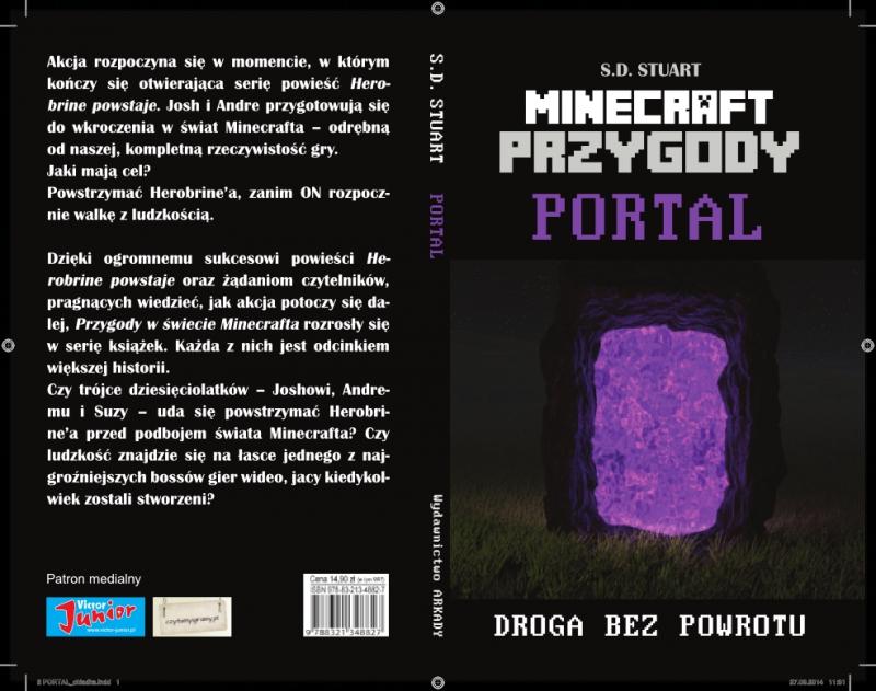Okładka książki - Przygody w świecie Minecraftu (#2). Portal
