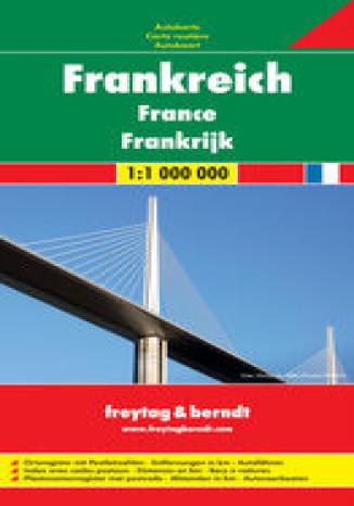 Okładka - Francja mapa 1:1 000 000 Freytag & Berndt