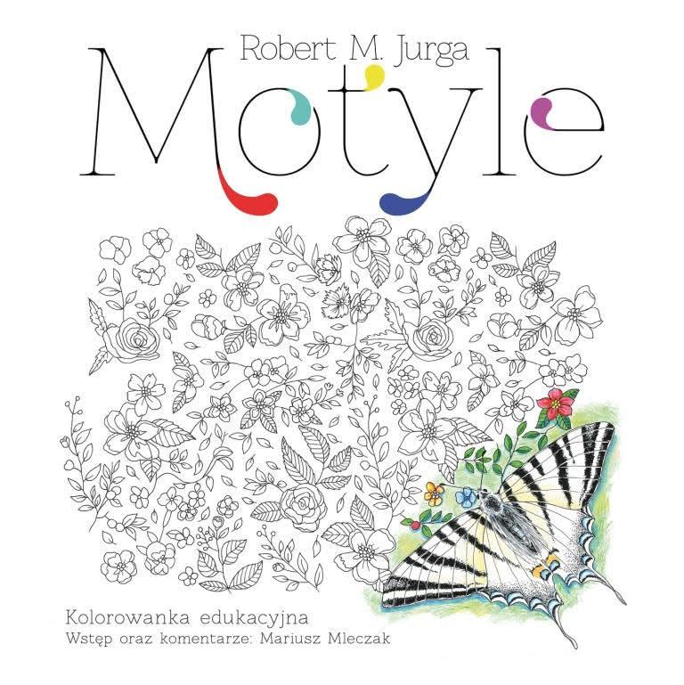 Okładka książki - Motyle. Kolorowanka