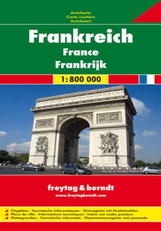 Okładka - Francja. Mapa Freytag & Berndt 1:800 000