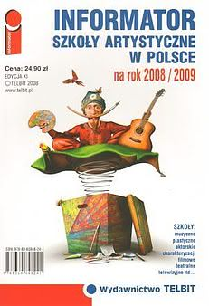 Okładka książki - Informator Szkoły artystyczne w Polsce 2008/09