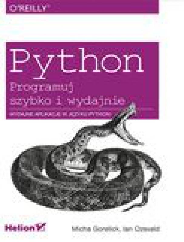 Okładka książki - Python. Programuj szybko i wydajnie