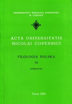 Okładka książki - Acta Universitatis Nicolai Copernici Filologia polska LX