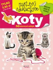 Ok�adka - Naklejki edukacyjne. Koty