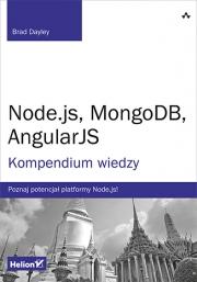 Ok�adka - Node.js, MongoDB, AngularJS. Kompendium wiedzy