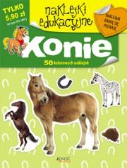 Ok�adka - Naklejki edukacyjne. Konie