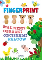 Okładka -  Fingerprint. Malujemy obrazki odciskami palców. Zestaw do malowania