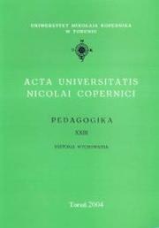 Okładka - Acta Universitatis Nicolai Copernici. Pedagogika XXIII. Historia wychowania