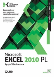 Okładka - Microsoft Excel 2010 PL. Język VBA i makra. Akademia Excela